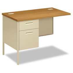 Hon Metro Classic Series Workstation Return, Left, 42w x 24d, Harvest/Putty