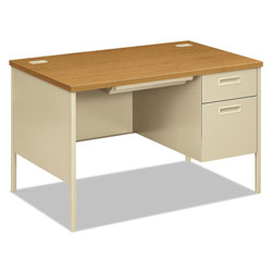 Hon Metro Classic Right Pedestal Desk, 48w x 30d x 29-1/2h, Harvest/Putty