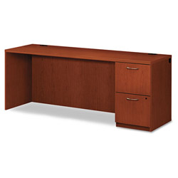 "Hon Park Avenue Laminate Credenza, Right Pedestal, 72""x24""x29"", Henna Cherry"