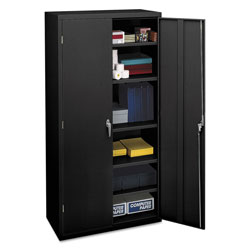 "Hon Assembled Storage Cabinet, 71.75""-High, 36"" x 18.25"", Black"