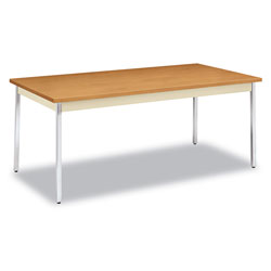 Hon Utility Table, Rectangular, 72w x 36d x 29h, Harvest/Putty