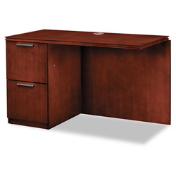 Hon Arrive Returns for Single Pedestal Desk, Left, Henna Cherry