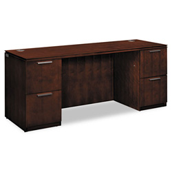 Hon Arrive Knee Space Credenza, Double, Shaker Cherry