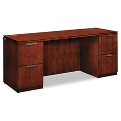 Hon Arrive Knee Space Credenza, Double, Henna Cherry