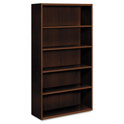Hon Arrive Five Shelf Bookcase, Shaker Cherry