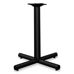 "Hon Single Column Steel X Pedestal Base for 30"" or 36"" Round Table Top, Black"