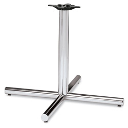 "Hon Single Column Steel X Pedestal Base for 42"" Round Table Top, Chrome"