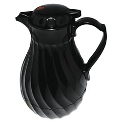 Hormel Poly Lined Black Swirl Design Carafe, 64 oz. Capacity