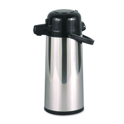 Hormel Beverage Dispeners, 2.2 Liter Cap., Stainless Steel/Black