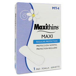 Maxithins® MT-4 Thin, Full Protection Sanitary Napkins