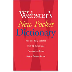 Webster's® New Pocket Dictionary, Paperback, 336 Pages