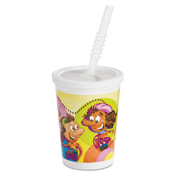 Chinet Kids Cold Cups, Plastic, 12 oz, Multi-color