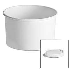 Chinet Paper Food Container with Vented Lid Combo 16 oz, Polycoated, White