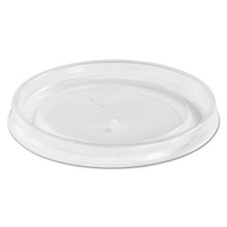 Huhtamaki High Heat Vented Plastic Lids, Fits All Sizes: 6-16 oz, Translucent, 50/Bag