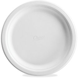 "Chinet Classic Paper Dinner Plates, 6"", Round, 125/PK, White"
