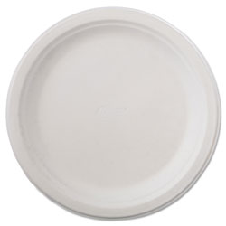 "Chinet Recycled 9.75"" Paper Plates, White, Case of 500"