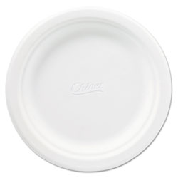 "Chinet Recycled 6.75"" Paper Plates, White, Case of 1000"