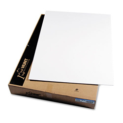 Hunt Foam Board, White Surface with White Core, 30 x 40, 25 Boards/Carton