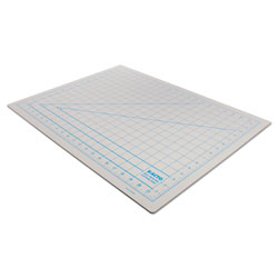 "Hunt Self Healing Cutting Mat, Nonslip Bottom, 1"" Grid, 18 x 24, Gray"