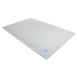 "Hunt Self Healing Cutting Mat, Nonslip Bottom, 1"" Grid, 24 x 36, Gray"