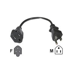 Cables To Go 3117 Standard Power Extension Cord - Power Extender - 15 Ft