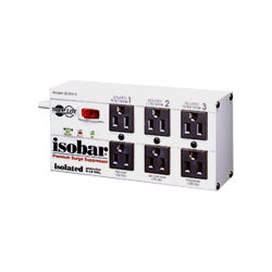 Tripp Lite ISOBAR6 Isobar 6 - Surge Suppressor (External) - AC 120 V - 6 Output Connector(s) - Canada, United States