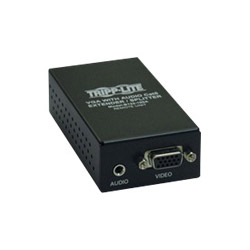 Tripp Lite B132-100A VGA With Audio Over Cat5 Extender/Splitter Remote Unit - Video/audio Extender