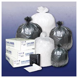 Inteplast High-Density Can Liner, 38 x 60, 60-Gallon, 14 Micron, Black, 25/Roll