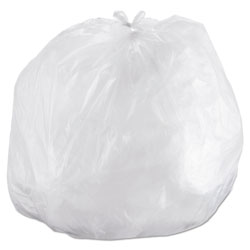 "Inteplast High Density Flat-Bottom Trash Bags, 16 Micron, 43"" X 48"", Case of 8"