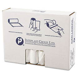 "Inteplast High Density Clear Flat-Bottom Trash Bags, 33 Gallon, 13 Micron, 33"" X 39"", Case of 500"