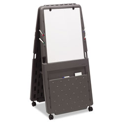 "Iceberg Mobile Presentation FliPChart Easel, 33""w x 28""d x 73""h, Charcoal Gray"