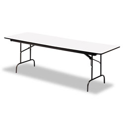 Iceberg Premium Wood Laminate Folding Table, 30 x 60, Gray
