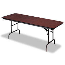 Iceberg Premium Wood Laminate Folding Table, 30 x 72, Walnut