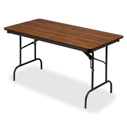 Iceberg Premium Wood Laminate Folding Table, 30 x 72, Oak