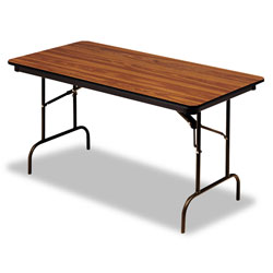 Iceberg Premium Wood Laminate Folding Table, 30 x 96, Oak