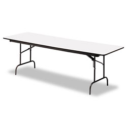 Iceberg Premium Wood Laminate Folding Table, 30 x 96, Gray