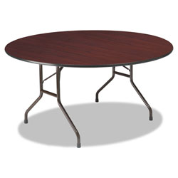 "Iceberg Round Folding Table, Wood, 60"", Mahogany"