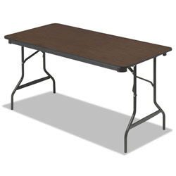 Iceberg Economy Wood Laminate Folding Table, 30 x 60, Walnut