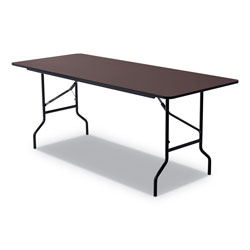 Iceberg Economy Wood Laminate Folding Table, 30 x 72, Walnut