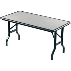 Iceberg Indestruc Tables Rectangular Folding Table, 60 x 30, Granite Finish Top
