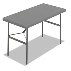 Iceberg Indestruc Tables Too Rectangular Folding Table, 48 x 24, Charcoal Finish Top