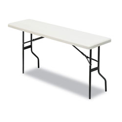 Iceberg IndestrucTable TOO 1200 Series Resin Folding Table, 72w x 18d x 29h, Platinum