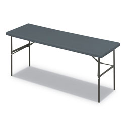 Iceberg Indestruc-Tables Too 1200 Series Rectangular Table, 72w x 24d x 29h, Charcoal