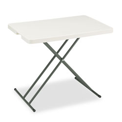 Iceberg Indestruc Tables Too Personal Folding Table, 20x30, Polyethylene, Steel, Platinum