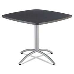"Iceberg Cafe Table, 36"" Square, Graphite"