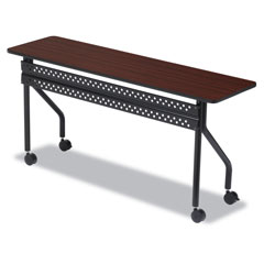 Iceberg OfficeWorks Mobile Training Table, Rectangular, 72w x 18d x 29h, Mahogany