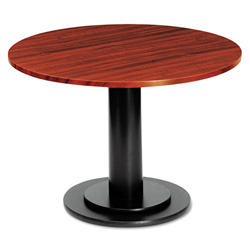 "Iceberg Round Conference Room Table Top, 36"" Diameter, Mahogany"