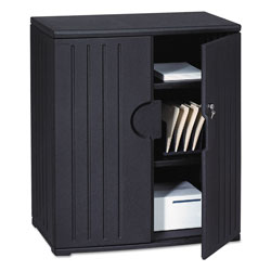 "Iceberg OfficeWorks Storage Cabinet, 46""-High, 36"" x 22"", Black"