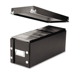 Ideastream CD Storage Box, 5 1/4w x 14d x 5 3/4h, Black