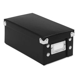 Ideastream 3 x 5 Collapsible Index Card File Box, 1,100 Card Capacity, Black